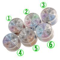 2014 new six-color eye shadow powder eye shadow powder / glitter / glitter / wet and dry / 6 optional 12g Eye makeup wholesale f