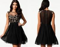 Newest Design 2014 Dresses Sexy Women Spring Summer Mesh Dress Women Party Casual Sequin Dresses 2014