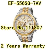 EF-556SG-7AV EF-556SG-7A sport wristwatch EF-556SG EF-556 556Japan Chronograph Quartz Movement men wristwatch Stainless Steel