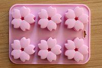 23*17cm 3D silicone sakura cake mould cake decoration tool