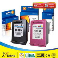Free shpping 1 PK Color reman ink cartridge CH564EE for HP 301XL color inkjet cartridges use in DeskJet 1050 Serie /2050 Serie