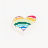 20pcs/lot Free Shipping Diy Fashion Alloy Enamel Color Heart Floating Charm For Origami Owl Memory Living Locket