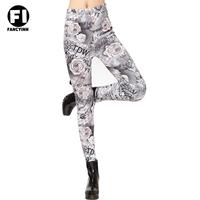 Fancyinn Desgin 2014 Women's Thickening Leggings Sexy Rose Print Slim Letter Pants Women's Leggings