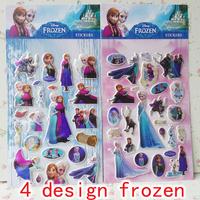 Frozen sticker Ice and snow country 13 x21cm elsa anna alof cartoon stickers/children bubble PVC 10pcs a lot