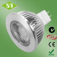 wholesale warm white 450lm high power led 36 degrees mr16 cob 5w
