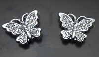 New 100pcs/lot 10mm rhinestones butterfly slide charm fit for 10mm phone strips