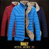 Top sale men winter jacket M~3XL winter coat men cotton padded stand collar slim fit thick parka cozy down-jacket for men