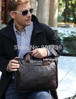 Free shipping mens Genuine Leather fashion Tassels zipper Messenger Shoulder Bag black brown