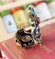 Min.orders$10 New hot sell Fashion High quality Gothic punk style palace vintage Face Masks ring Jewelry for women  MD1111