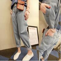 2014 Women Loose Vintage Denim Pants Calca Feminina Jeans harem Designer Casual Trousers Zipper Female Fly Pant Free Shipping