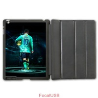Football Sport European Golden Boot Messi Protective Smart Cover Leather Case For iPad 2 3 4/iPad 5 Air/iPad Mini  P141