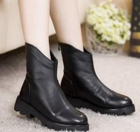 free shipping !2014 autumn winters in Europe and the new head layer cowhide bevel waterproof Martin boots