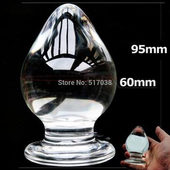 60 мм большой большой размер стекла анальный анальная пробка кристалл бусины мяч ...