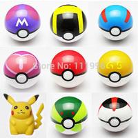 Freeshipping 8pcs ABS Action Anime Figures Pokemon balls PokeBall Fairy Ball Super Master Toys with 1 Pcs Free Gift  Pikachu New