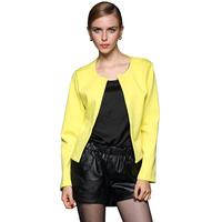 New Arrival Women Blazer 2015 High Quality All-match Solid Color Slim Round Collar Women Short Blazer ( S/M/L/XL/XXL) 8172