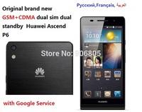 Original brand new Huawei Ascend P6 GSM+CDMA EVDO Android smart phone quadcore dual sim dual standby
