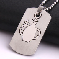 Aquarius tags pendant necklaces bead chain for women men 316L Stainless Steel wholesale Free shipping