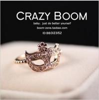 Min.orders$10 New hot sell Fashion High quality Bohemian Kamen mask rhinestone  flower ring Jewelry for women  MD1114