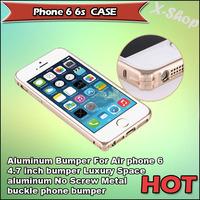 X-SHOP,Aluminum Bumper For phone 6 4.7 inch bumper Luxury Space aluminum No Screw Metal buckle phone bumper