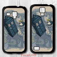 5 pcs Case For Samsung Galaxy S4 mini S3 mini - Doctor Who Alice In Wonderland P607(White: S4, Black: S3)