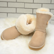 int'l Brand women Sheepskin Snow Boots Real Fur,100% Wool lining,Winter warm boots for ladies,with Original Box free ship(China (Mainland))