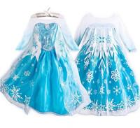 2014 New Frozen dress! Children dress girls dress princess dress high quality children's skirt, Snowflakes sequined dress