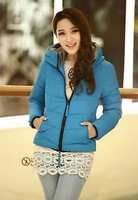 New Fashion Women jacket hooded padded coat Slim Short Down padded coats