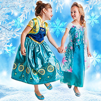 European & American fashion dresses Elsa dress, Snowflakes sequined dress, animated cartoon dress, girls dress.