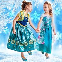 Frozen dress, European & American fashion frozen Elsa dress, Snowflakes sequined dress, animated cartoon dress, girls dress.