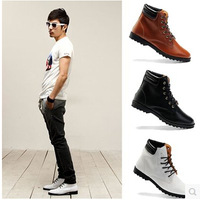 2014 fashion winter cotton-padded shoes male shoes thermal elevator male skateboarding shoes Send Heighten