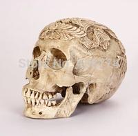 2014 Egypt style decoration engraving resin skull halloween horror 1:1 simulation skull model,free shipping