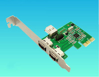 High Quality PCI-Express IEEE 1394a Firewire Controller Card DV Video Capture Card with Cable