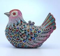 2014 Fashion Bird Shaped Crystal Evening Purse Chrismas Present Swarovski Clutch Bag S08124