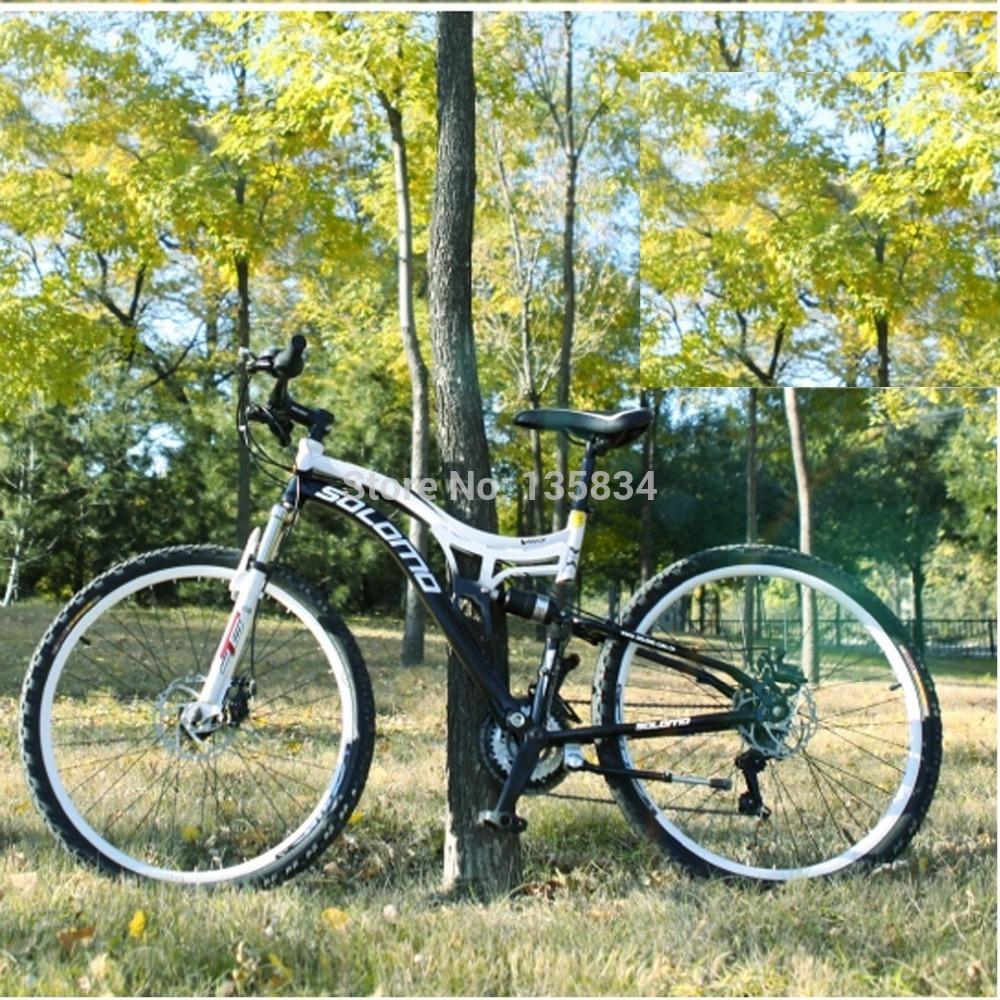 21 24 27 Speeds Mountain Bike Full Shocking proof 26 X17 Mountain Bicycle Double Disc Brake