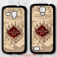5 pcs Harry Potter Marauders Map Protective Plastic Cover Case For Samsung Galaxy S4 mini, S3 mini P571(White: S4, Black: S3)