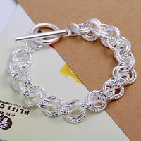 Wholesale! Free Shipping Wholesale 925 silver bracelet, 925 silver fashion jewelry 3 line Bracelet S0916