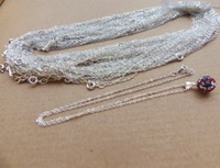 Factory Suply Silver Necklace Chains, Silver Plated Copper Necklace Chains Wholesales, 120pcs/lot