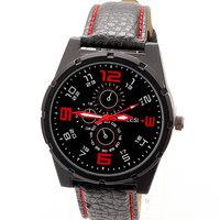 Hot Fashion PU Leather Strap Watches Men Sport Luxury Brand Sport Wristwatch Free Shipping