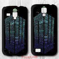 5 pcs For Samsung Galaxy S4 mini S3 mini -  Tardis Doctor Who Quote Protective Plastic Cover Case P632(White: S4, Black: S3)