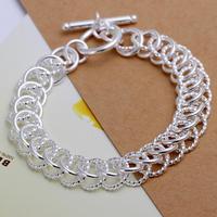 Wholesale! Free Shipping Wholesale 925 silver bracelet, 925 silver fashion jewelry centipede Bracelet S0915