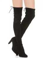 Celebrity Brand 2014 Women Autumn Boots Thigh High Boots High Heel Suede Boots Winter Shoes