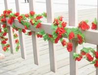 Encryption simulation peony silk flower vine rattan strips of plastic piping decorative artificial flowers vine flower vine whol
