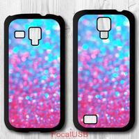 5 pcs Printed Glitter Protective Plastic Back Cover Case For Samsung Galaxy S4 mini / S3 mini P738(White: S4, Black: S3)