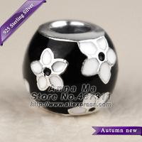NEW 925 Sterling Silver Mystic Flower with Enamel Charm Beads Fit European Women Jewelry DIY Bracelets & Necklaces Pendant CB364