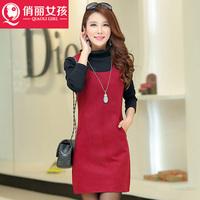 2014 Autumn minimalist vest vest woolen dress ladies dress clothing winter dress