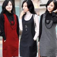 2014 new spring women's loose big yards thick vest bottoming winter woolen vest dress clothes vestido