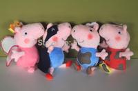 "Peppa Pig Family Super George Pig Plush Doll Stuffed Toy 9"" muddy peppa fairy peppa superman george"