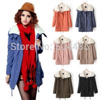 Winter 2014 New Women's Down Parka Plus Size Thickening Warm Jacket  Poncho jaqueta casacos feminina Outerwear Coats B2009