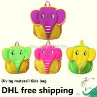 DHL Free Shipping~New arrivals Kids School bag~Neoprene zoo 3D Cartoon Design Backpacks Children Soft Bag~Girls Christmas gifts