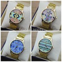 GENEVA Watch 2014 New Fashion Quartz Watches Hours Clock Wrist watch High Quality Alloy band Free Shipping